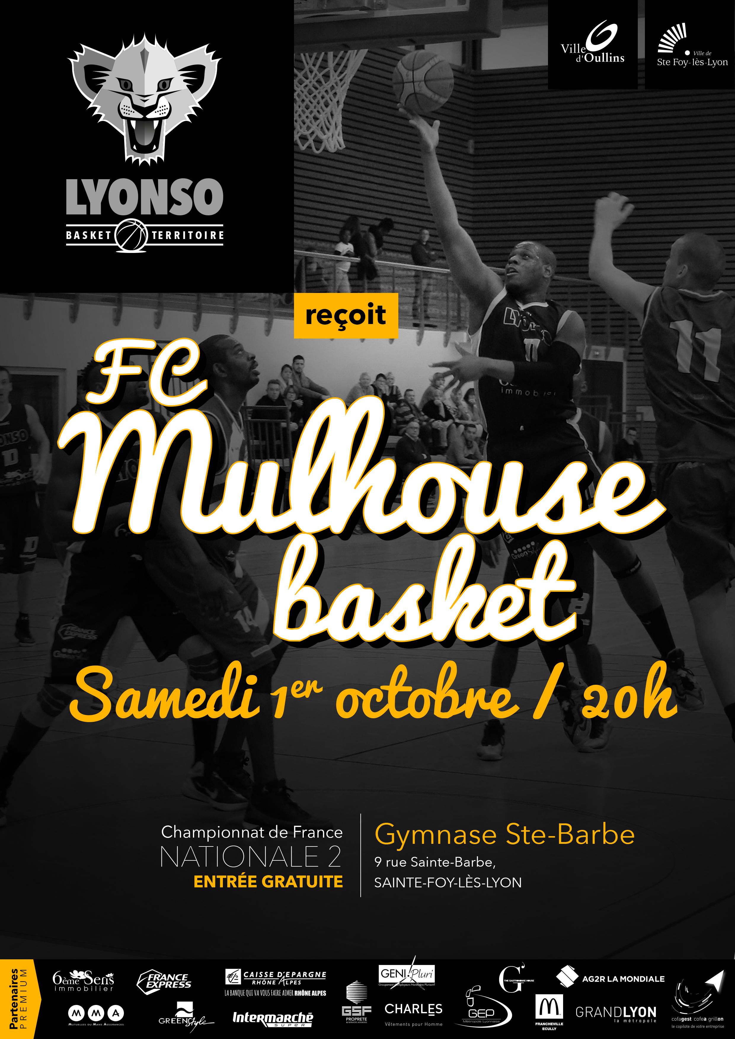 [J.03] IE Oullins Ste Foy Basket-Ball - FC MULHOUSE : 85 - 73 2_-_Saison16-17_02_MULHOUSE